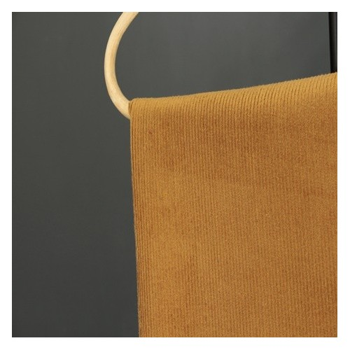 tissu velours côtelé ocre