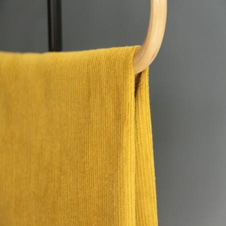 tissu velours côtelé moutarde