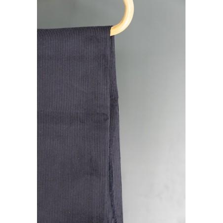 tissu velours côtes marine