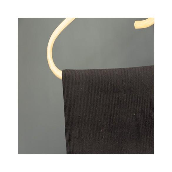 tissu velours côtelé noir