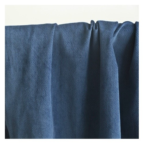tissu velours côtelé bleu