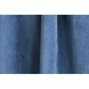 tissu velours bleu indigo