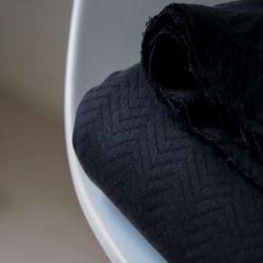 jersey matelassé bio noir