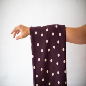 viscose stretch dots burgundy - mind the maker