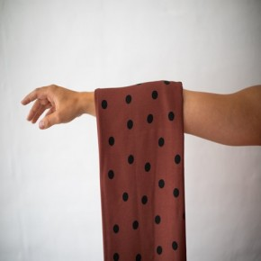 viscose stretch dots rust - mind the maker