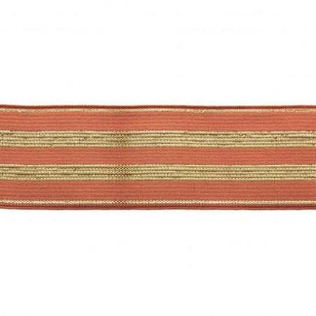 Elastique rouille lurex or - 30 mm