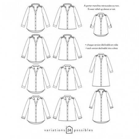 Versions chemise Azur