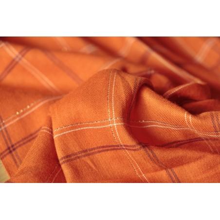 tissu à carreaux orange
