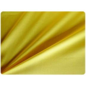 Popeline de coton jaune un chat sur un fil