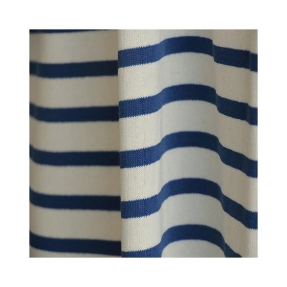 maille marinière écru et bleu royal