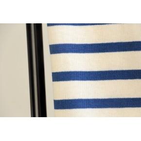 jersey marinière écru et bleu fabriqué en France