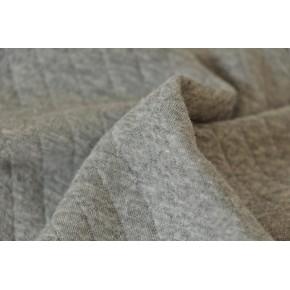 jersey matelassé gris