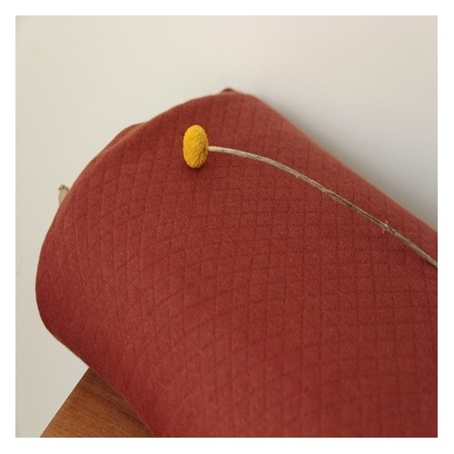 tissu jersey matelassé rouille