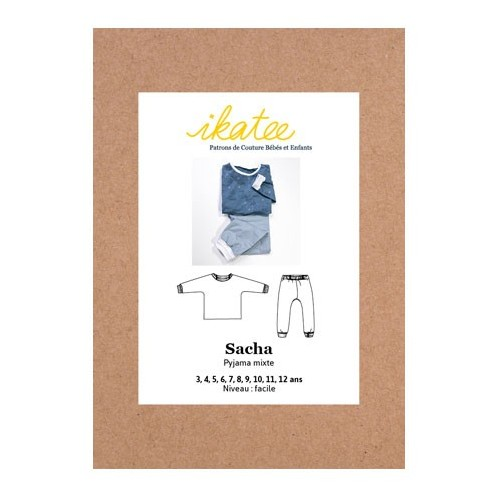 Patron de pyjama mixte - Sacha - Ikatee