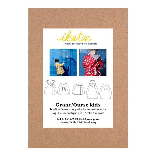 Patron gilet grand'ourse kids- ikatee