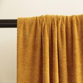 tissu maille chenille moutarde