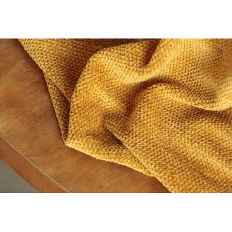 maille chenille moutarde